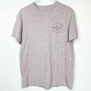 mens Quiksilver gray t-shirt LARGE